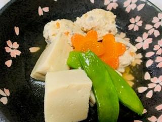 高野豆腐と鶏団子の煮物
